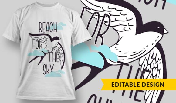 Reach For The Sky   T-shirt Design Template 2861 1