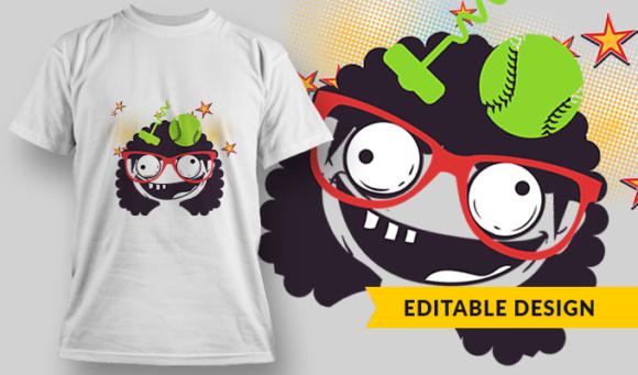 Screwball | T-shirt Design Template 2862 1