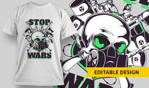 Stop Wars | T-shirt Design Template 2810 1