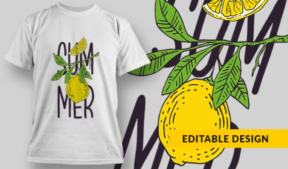 Summer | T-shirt Design Template 2866 1