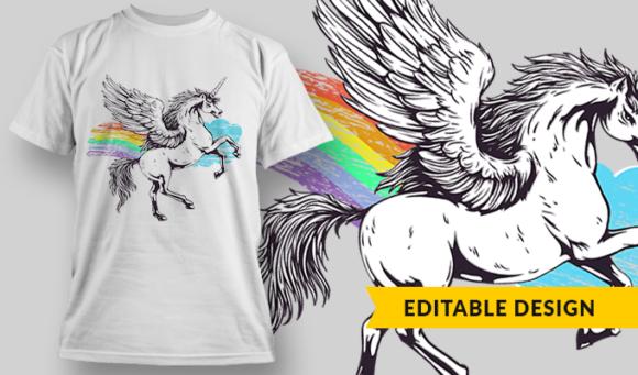 Unicorn | T-shirt Design Template 2813 1