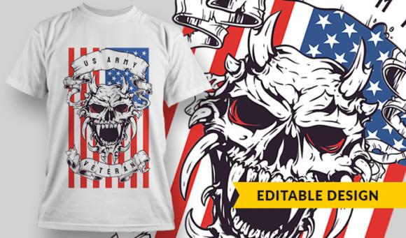 US Army Veteran   T-shirt Design Template 2814 1