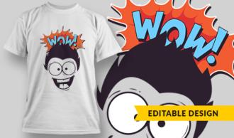 Wow! | T-shirt Design Template 2872