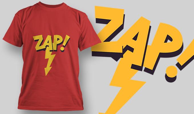 Zap! | T-shirt Design Template 2840