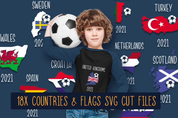 18x Countries & Flags SVG CUT FILES 1