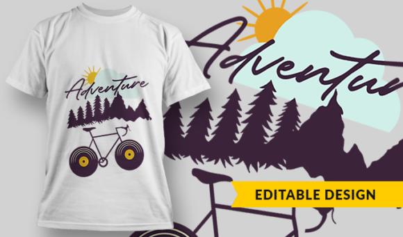 Adventure  T-Shirt Design Template 2901 1