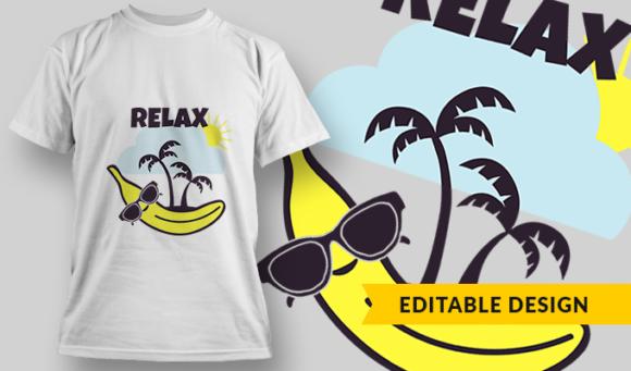 Relax | T-shirt Design Template 2876