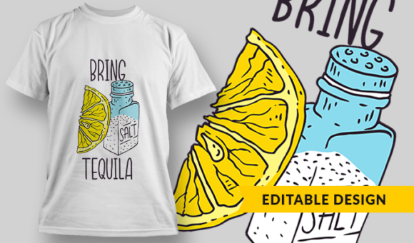 Bring Tequila| T-Shirt Design Template 2905 1