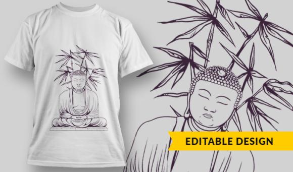 Buddha  T-Shirt Design Template 2906 1