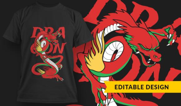 Dragon  T-Shirt Design Template 2912 1