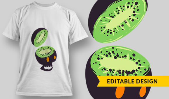 Kiwi Skull | T-shirt Design Template 2884