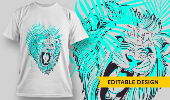 Lion   T-shirt Design Template 2885 1