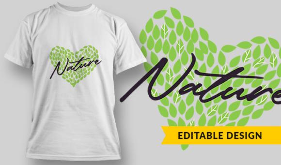 Love Nature | T-shirt Design Template 2886