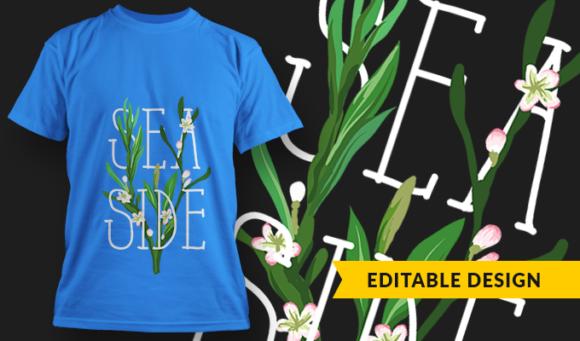Seaside   T-shirt Design Template 2889