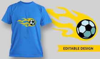 Soccer Ball Meteor | T-shirt Design Template 2892