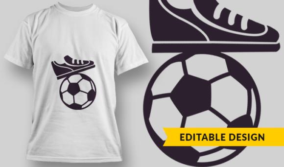 Soccer | T-shirt Design Template 2893