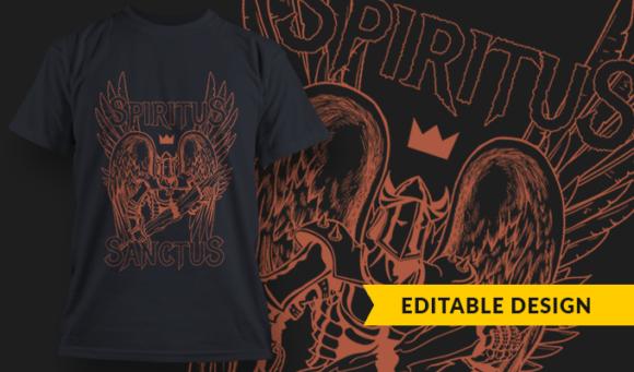 Sanctus Spiritus   T-shirt Design Template 2894