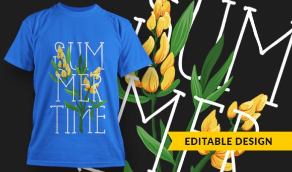 Summertime   T-shirt Design Template 2896 1