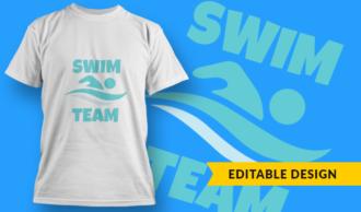 Swim Team | T-shirt Design Template 2897