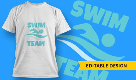Swim Team   T-shirt Design Template 2897