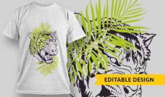 Tiger | T-shirt Design Template 2898
