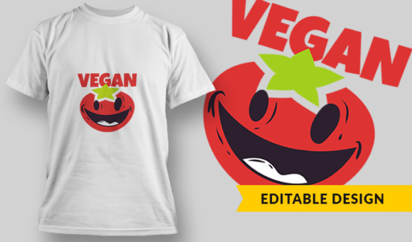 Vegan | T-shirt Design Template 2899 1