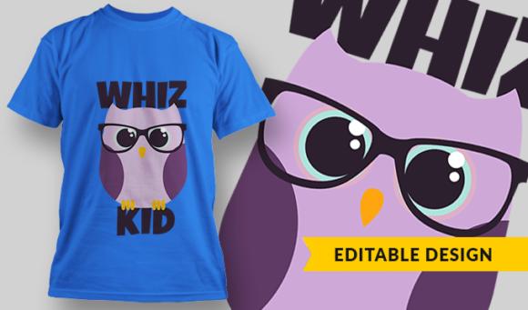 Whiz Kid | T-shirt Design Template 2900